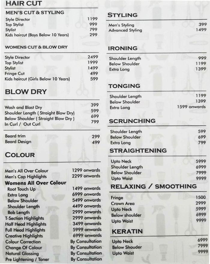 Toni Guy Menu And Price List For Sahakara Nagar Bengaluru Nearbuy Com This is video about my haircut and what i feel about. toni guy menu and price list for
