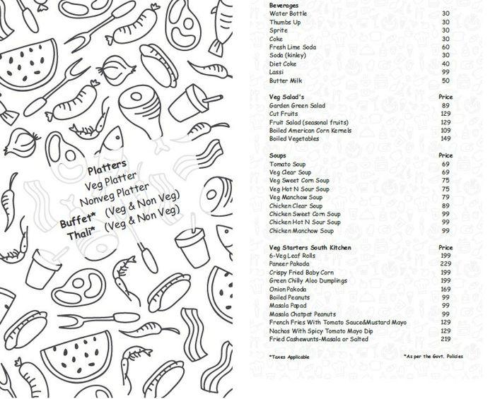 Surah Restro Bar Menu and Price List for Kondapur, Hyderabad