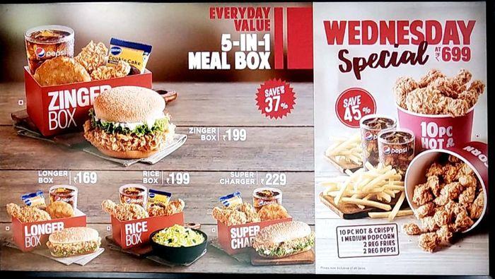 KFC Menu, Prices in T Nagar, Chennai | nearbuy com