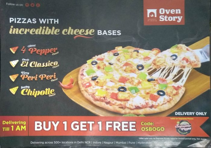 Oven Story Pizza Menu and Price List for AECS Layout