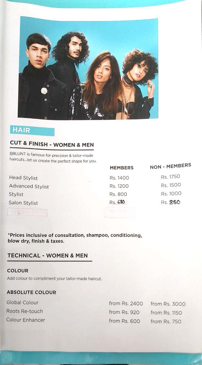 Bblunt Menu and Price List for Koramangala, Bengaluru  nearbuy.com