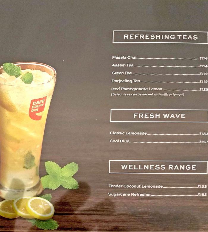 Cafe Coffee Day Menu and Price List for Kopar Khairane ...