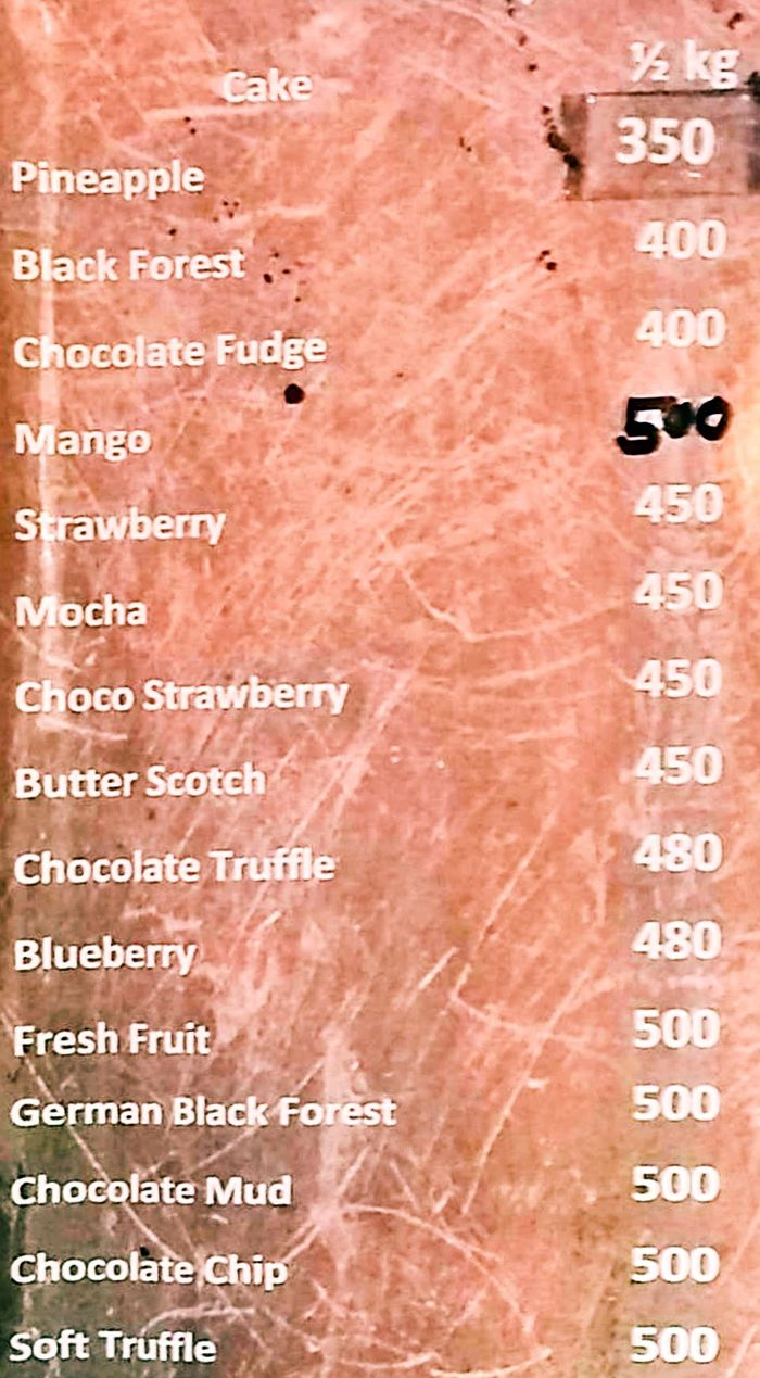 Dukes Patisserie & Boulangerie Menu and Price List for Old